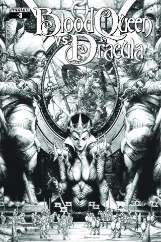 Blood Queen vs. Dracula #3 (10 Copy Anacleto B&W CoveR)