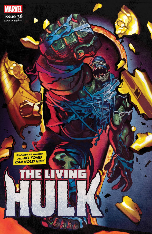 The Immortal Hulk #38 (Del Mundo Living Hulk Horror Cover)