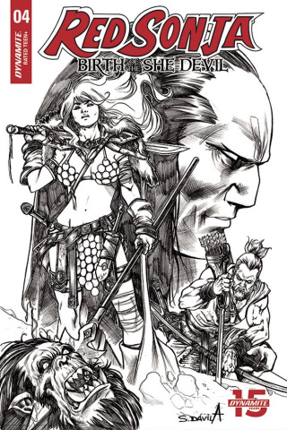 Red Sonja: Birth of the She-Devil #4 (20 Copy Davila B&W Cover)