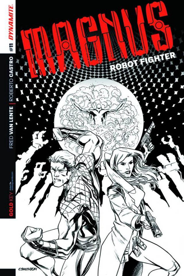 Magnus, Robot Fighter #11 (25 Copy Smith B&W Cover)