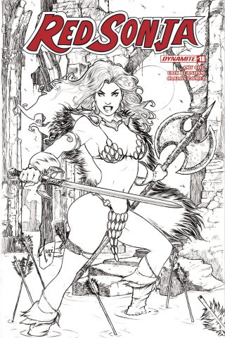 Red Sonja #18 (30 Copy Tucci B&W Cover)