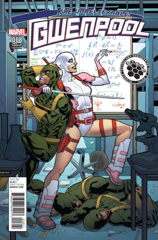 Gwenpool #8 (Sliney Steam Cover)