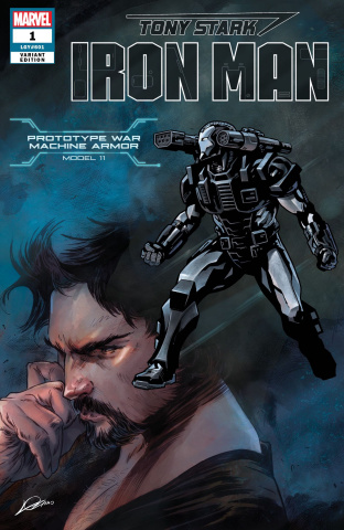 Tony Stark: Iron Man #1 (War Machine Stark Armor Cover)