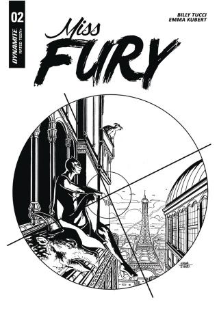 Miss Fury #2 (10 Copy Kubert B&W Cover)