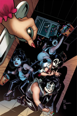 KISS: Blood and Stardust #1 (40 Copy Sanapo Virgin Cover)