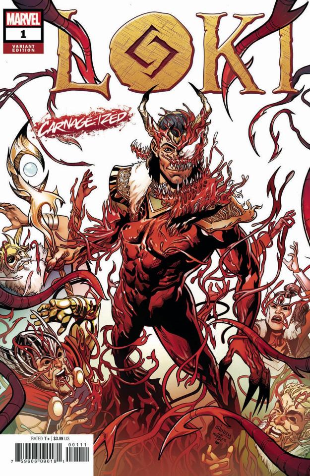 Loki #1 (Sliney Carnage-ized Cover)