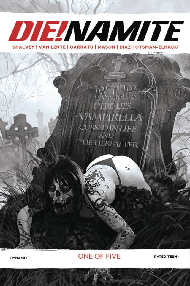 DIE!namite #1 (21 Copy Suydam Living Dead Grayscale Cover)