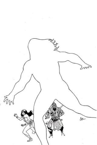 The Cimmerian: Iron Shadows in the Moon #1 (50 Copy Casas B&W Line Art Cover)