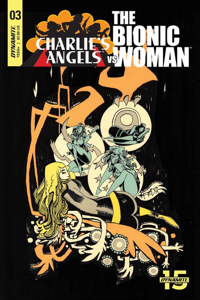 Charlie's Angels vs. The Bionic Woman #3 (Mahfood Cover)