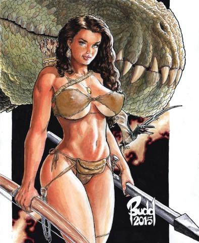 Cavewoman / Raptorella #1 (Root Cover)