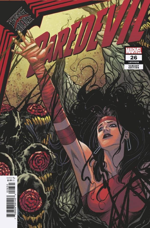 Daredevil #26 (Checchetto Elektra Cover)