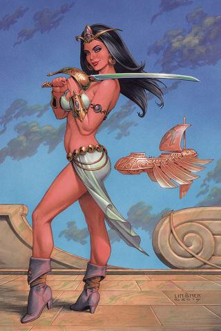 Dejah Thoris #4 (Linsner Virgin Cover)