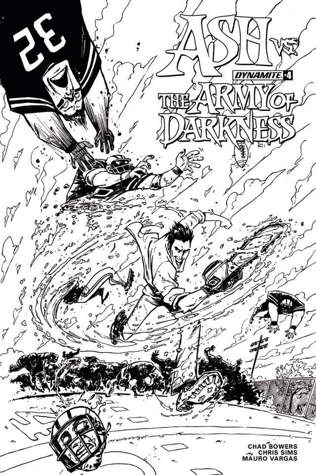 Ash vs. The Army of Darkness #4 (10 Copy Vargas B&W Cover)