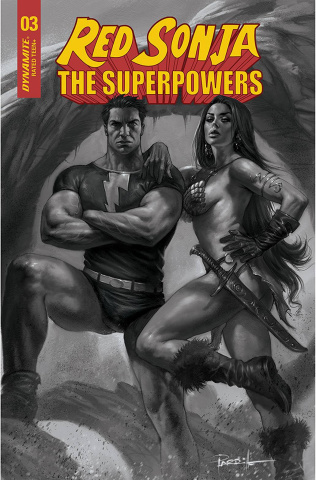Red Sonja: The Superpowers #3 (15 Copy Parrillo B&W Cover)