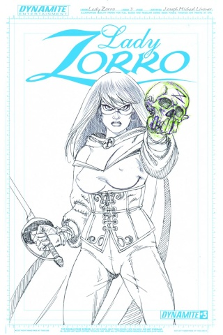 Lady Zorro #3 (10 Copy Linsner Art Board Cover)