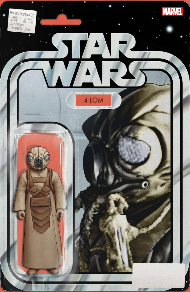 Star Wars: Bounty Hunters #7 (Christopher Action Figure Cover)