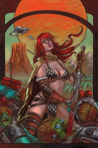 Mars Attacks / Red Sonja #1 (50 Copy Strati Virgin Cover)