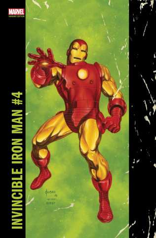 Invincible Iron Man #4 (Jusko Corner Box Cover)