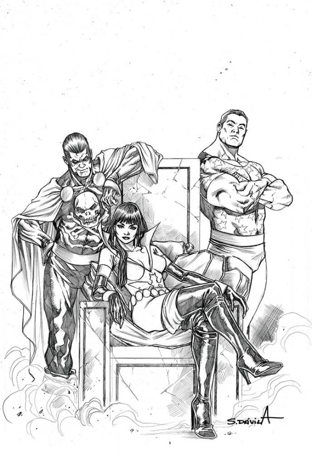 Vampirella: The Dark Powers #5 (11 Copy Davila B&W Virgin Cover)