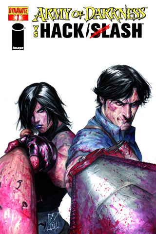 Army of Darkness vs. Hack/Slash #1 (Caselli Cover)