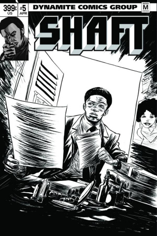 Shaft #5 (15 Copy Greene B&W Cover)