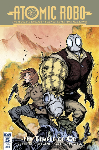 Atomic Robo and The Temple of Od #5 (Subscription Cover)