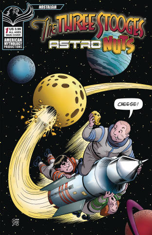 The Three Stooges: Astro Nuts #1 (Shanower Cheese Cover)