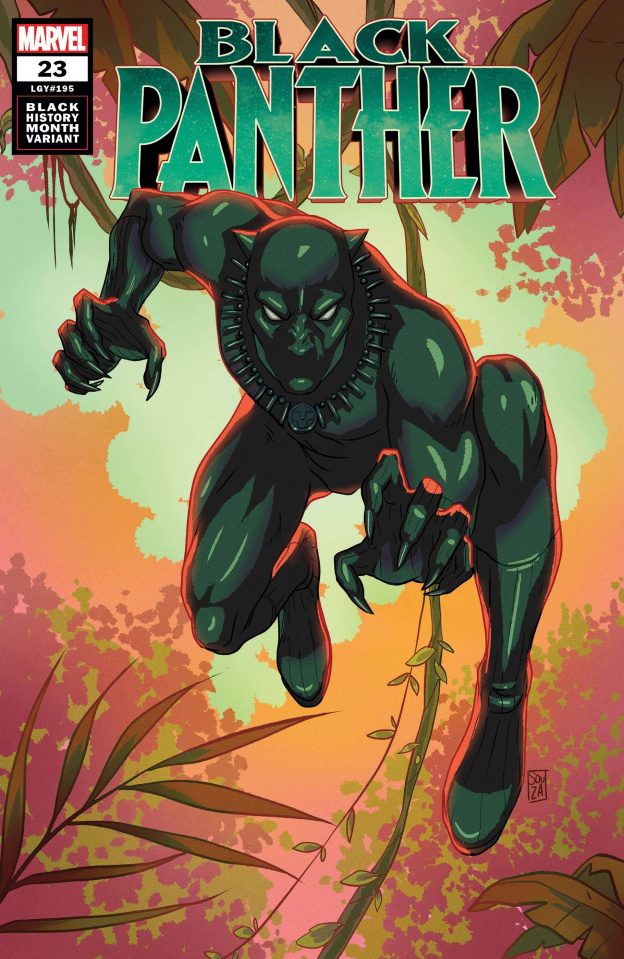Black Panther #23 (Souza Black Panther Black History Cover)
