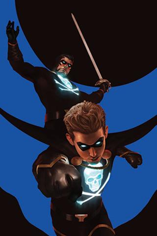 Black Terror #3 (11 Copy Rahzzah Blue Virgin Cover)