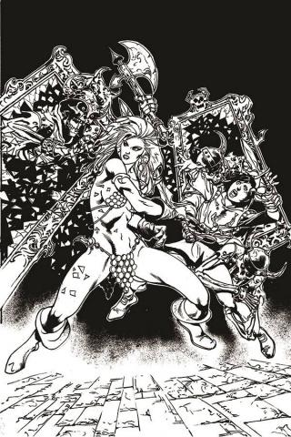 Killing Red Sonja #4 (15 Copy Castro B&W Virgin Cover)