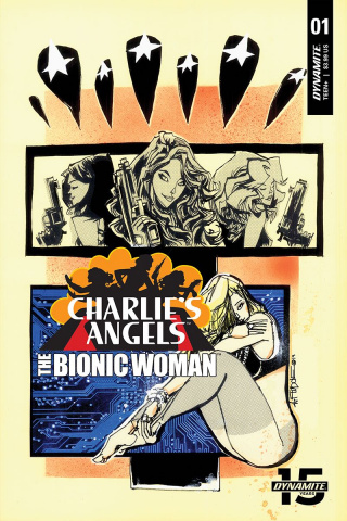 Charlie's Angels vs. The Bionic Woman #1 (Mahfood Cover)