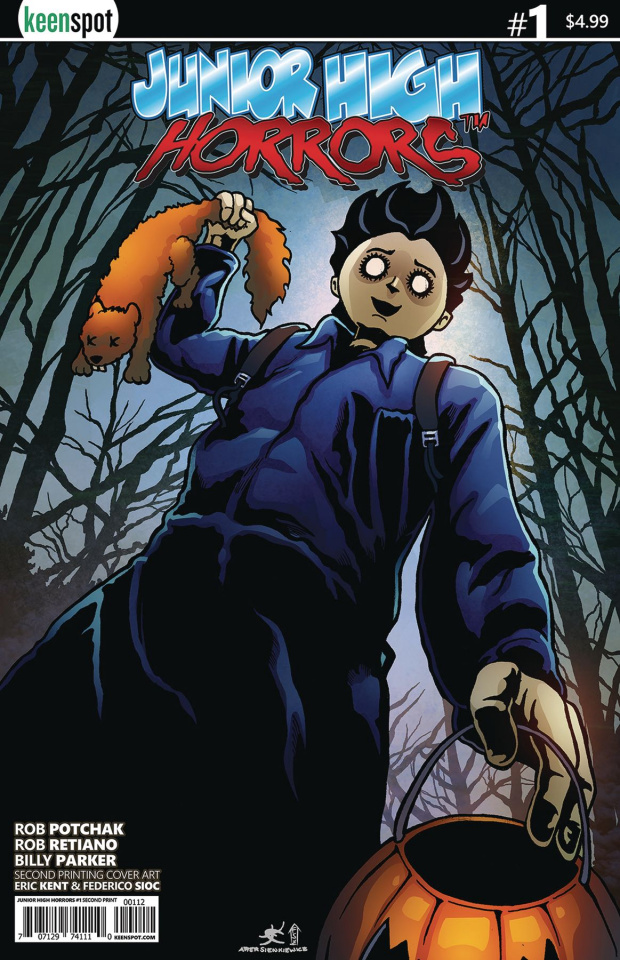 Junior High Horrors #1 (2nd Printing Halloween Parody Cover)