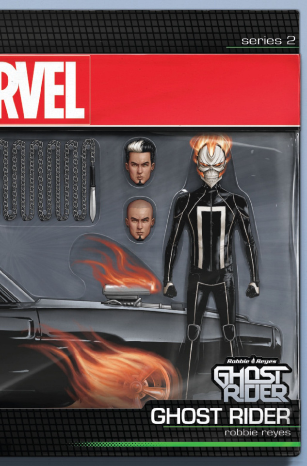 Ghost Rider #1 (Christopher Action Figure Cover)
