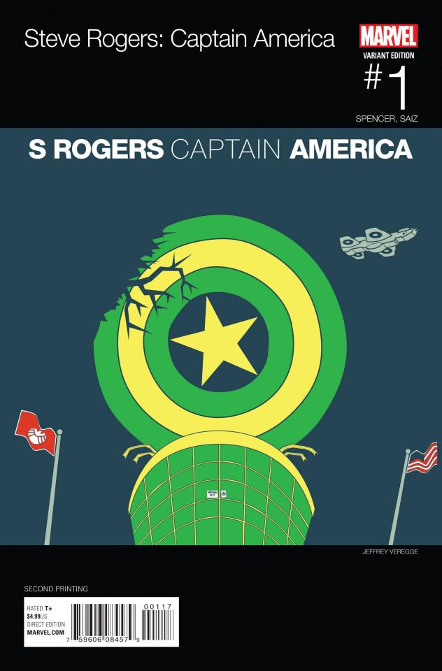 Captain America: Steve Rogers #1 (Veregge Hip Hop Remix 2nd Printing)
