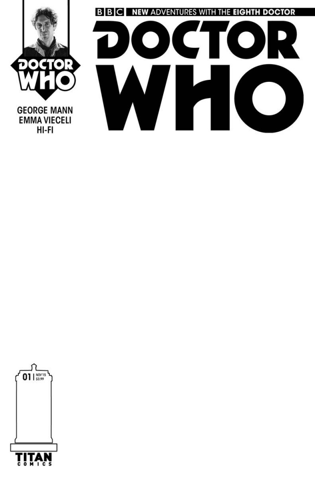 Doctor Who: New Adventures with the Eighth Doctor #1 (Blank Sketch Cover)