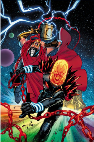 Thor #5 (Lupacchino Cosmic Ghost Rider Cover)