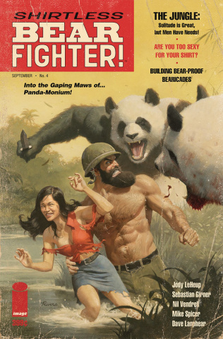 Shirtless Bear-Fighter! #4 (Rivera Cover)