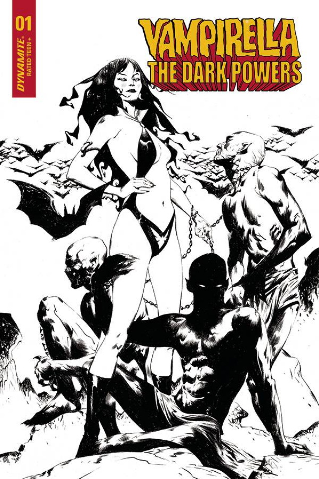 Vampirella: The Dark Powers #1 (30 Copy Lee B&W Demons Cover)