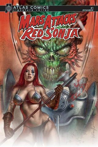 Mars Attacks / Red Sonja #1 (Layman Signed Atlas Edition)