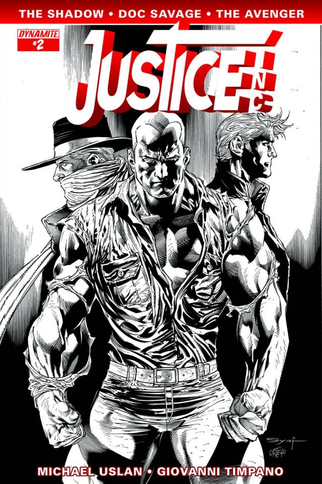 Justice, Inc. #2 (15 Copy Syaf B&W Cover)