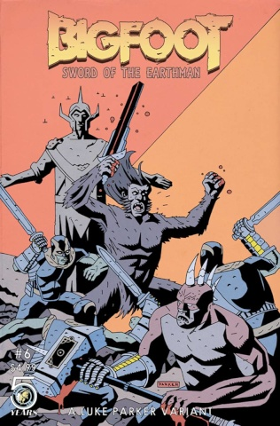 Bigfoot: Sword of the Earthman #6 (Parker Cover)