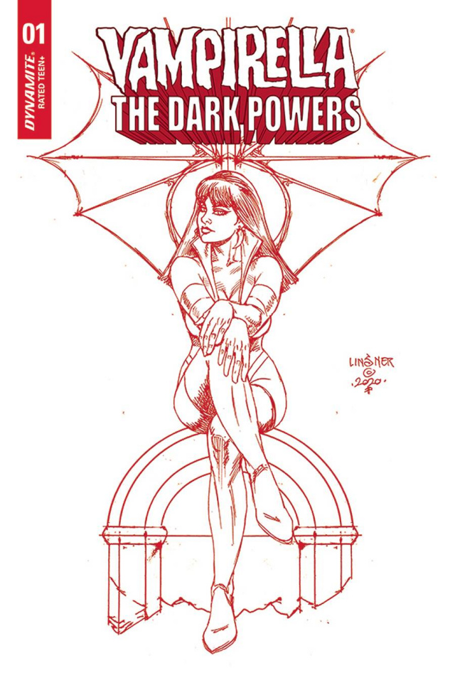 Vampirella: The Dark Powers #2 (Linsner Crimson Red Line Art Cover)