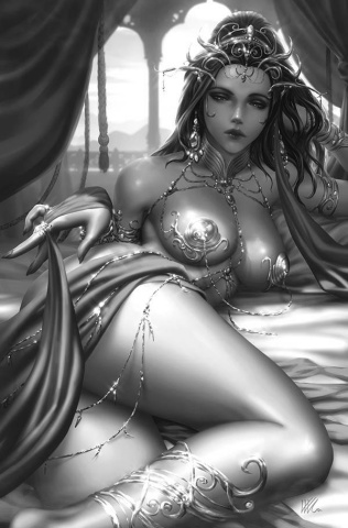Dejah Thoris #3 (21 Copy Kunkka B&W Virgin Cover)