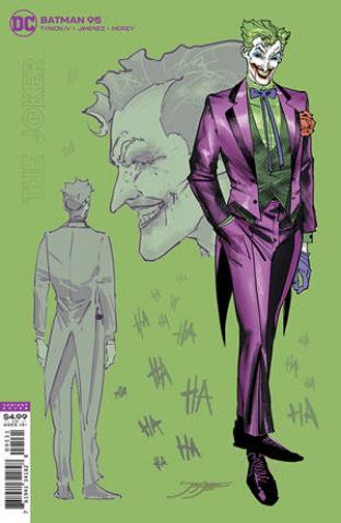 Batman #95 (1:25 Jorge Jimenez Joker Card Stock Cover)