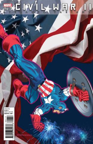 Civil War II #7 (Steranko Captain America Cover)