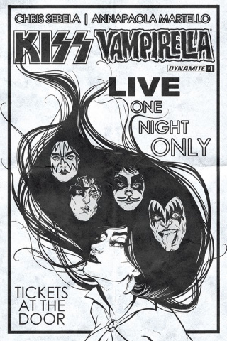 KISS / Vampirella #1 (20 Copy Idhe B&W Cover)