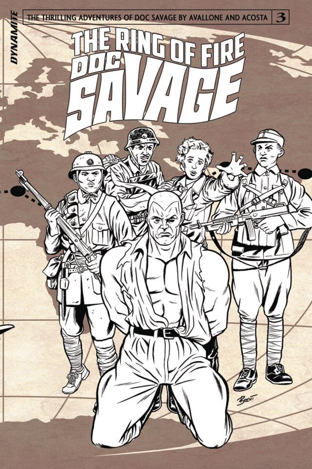 Doc Savage: The Ring of Fire #3 (10 Copy B&W Cover)