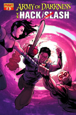 Army of Darkness vs. Hack/Slash #6 (Seeley Cover)