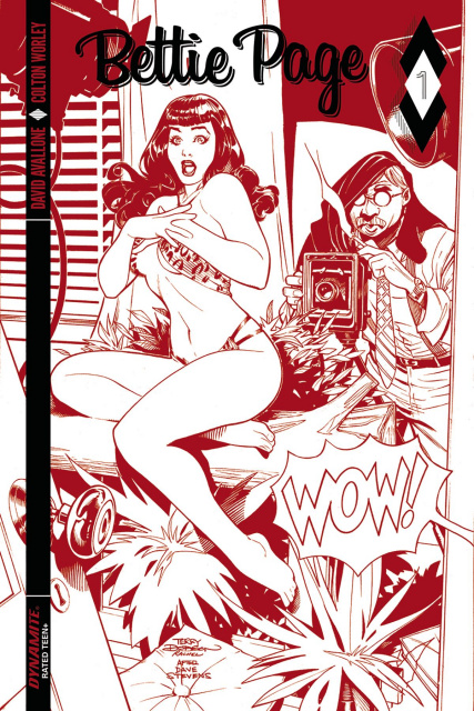 Bettie Page #1 (50 Copy Dodson Red Hot Cover)