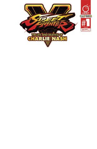 Street Fighter V: The Life and Death(s) of Charlie Nash (Blank Sketch Cover)
